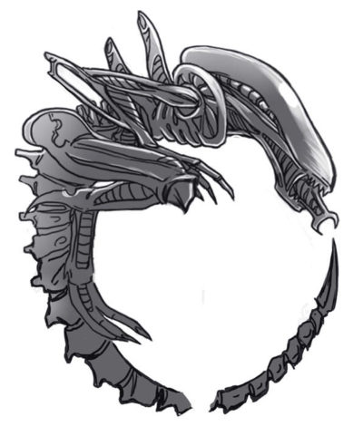 The Alien xenomorph tattoo design