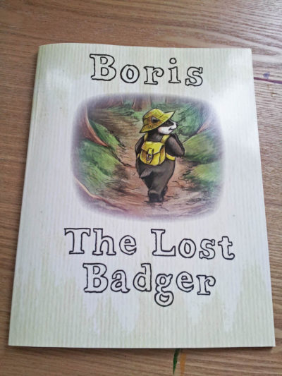 Boris the Badger childrens' book illustration