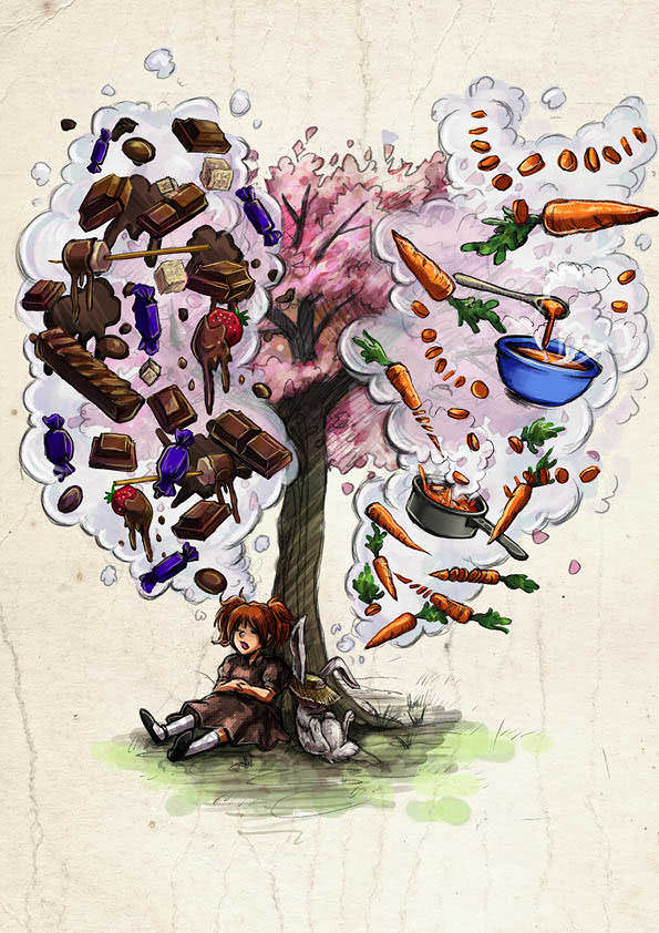 Illustration from Chocolate and Carrots