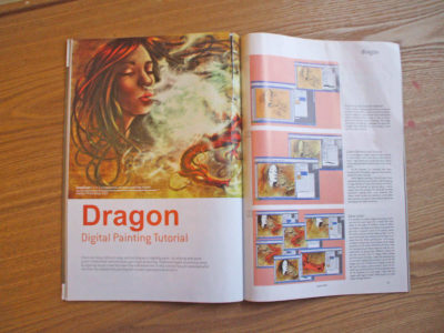 Digital painting tutorial in the magazine