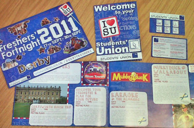 Freshers' Fortnight and induction material rebrand for 2011