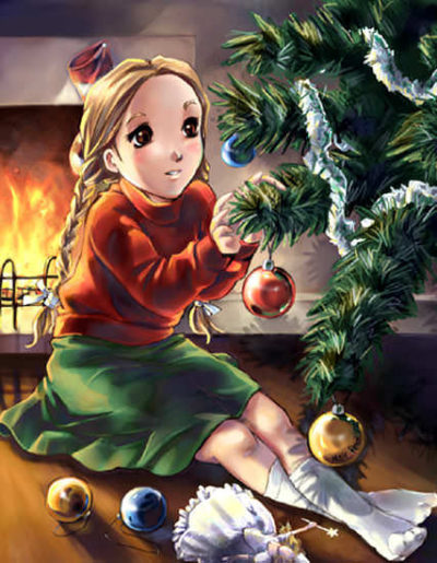 An anime Christmas illustration for a DeviantART competition. Awarded 3rd place.