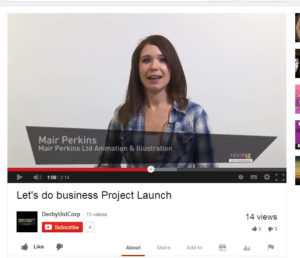 Mair Perkins, company owner and animator talks at the Let's do business launch event.