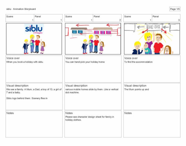 Siblu animation storyboard
