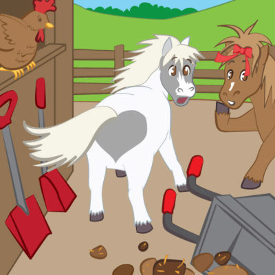 Happy Ponies children's book illustration created in Adobe Illustrator