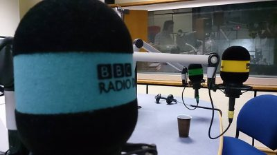 Mair Perkins at BBC Radio Derby