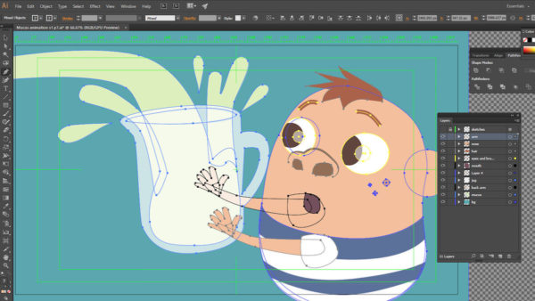 illustrating animation assets in illustrator for after effects