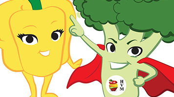 Huddersfield veg man illustrated characters thumbnail