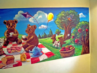 Teddy Bear Picnic Mural for a Children's Nursery