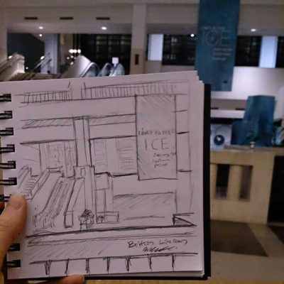 British Library sketch