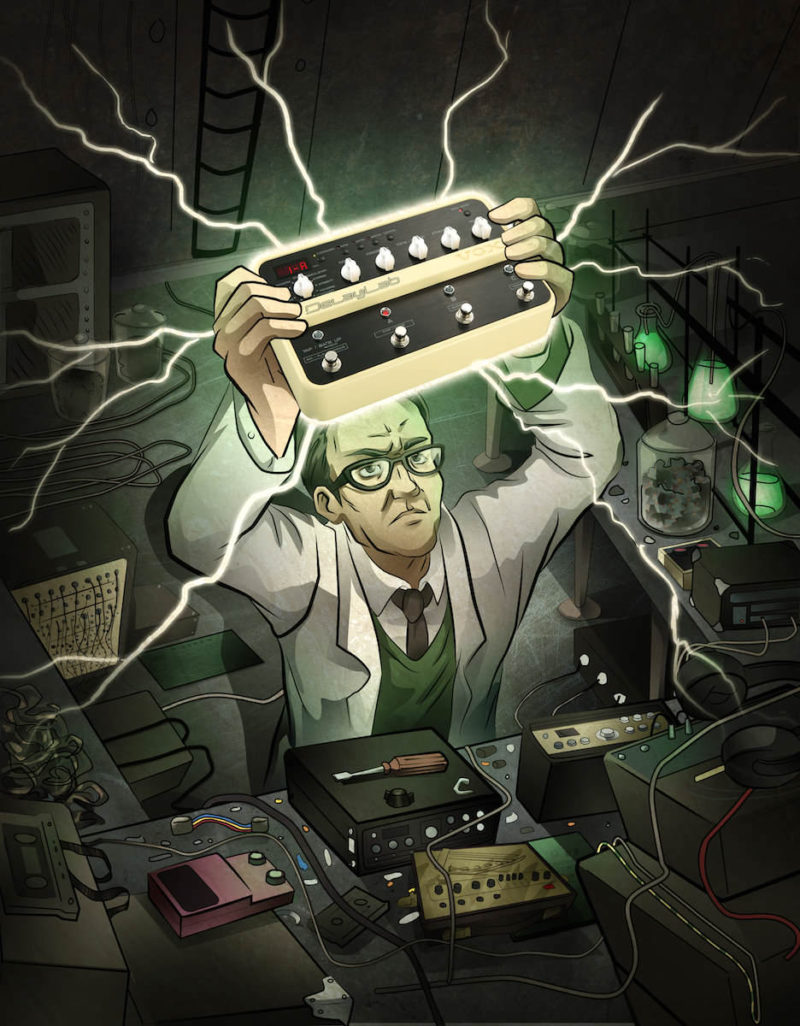 Illustration for magazine advert - VOX Delay Lab Whammy Pedal