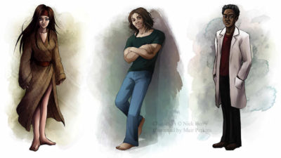 Finished character designs for the graphic novel Semper Viridis by Nick Berry.