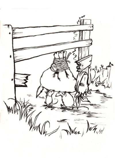 Goats Cheese black and white children's book