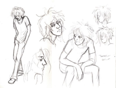 Initial concepts for character designs for the graphic novel Semper Viridis by Nick Berry.