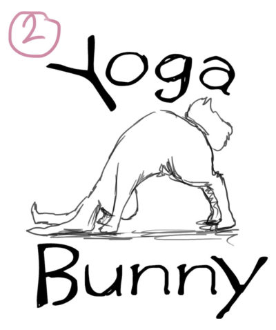 One of the initial logo idea concept sketches