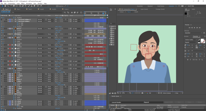 After Effects character animation screen shot