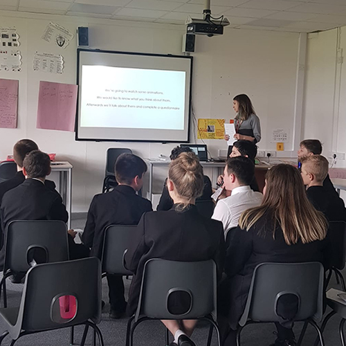 School participation workshop for the talking Mental Health Film