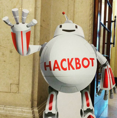 Hackbot character design for Hack24