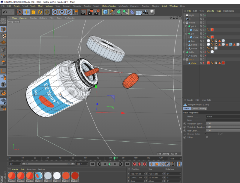 EZ Tears Cinema 4D screen shot