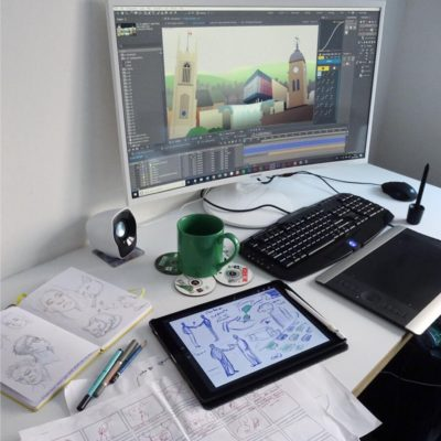 Animation and illustration desk