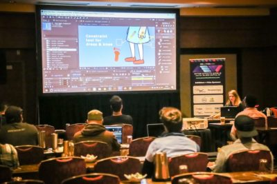 Mair Perkins Rigging Unique Illustrative Style Characters After Effects World conference in Seattle USA