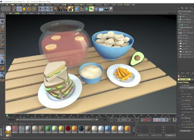 3d-food-table-cinema-4d