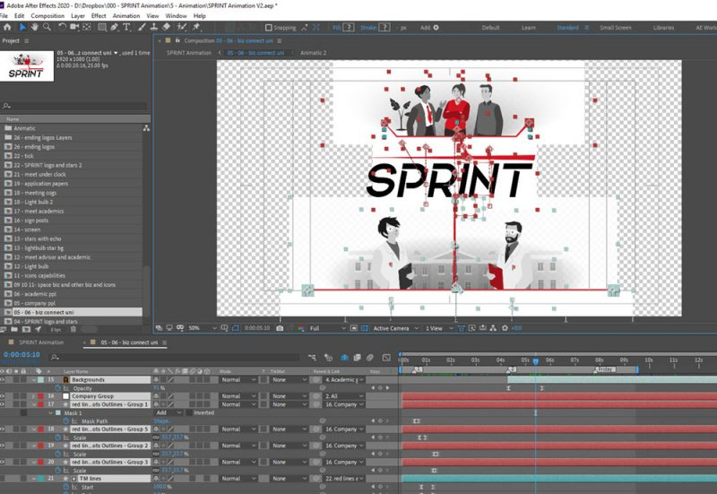SPRINT Explainer Animation - after effects