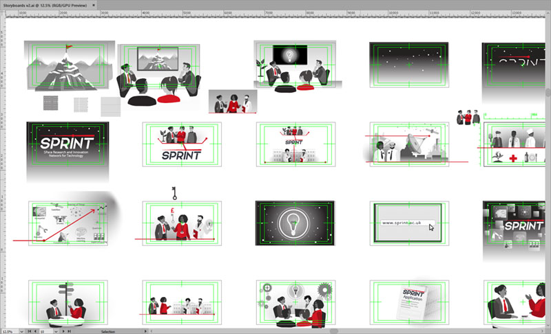 SPRINT Explainer Animation - illustrated boards