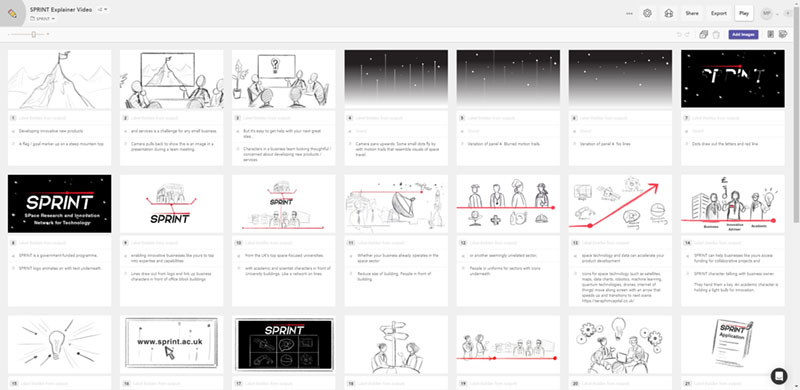 SPRINT Explainer Animation - storyboard sketches