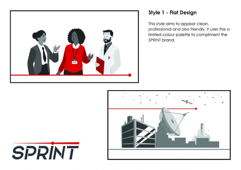 SPRINT Style concept 1 - flat design