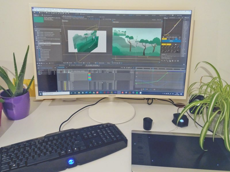Rainforest animation in After Effects