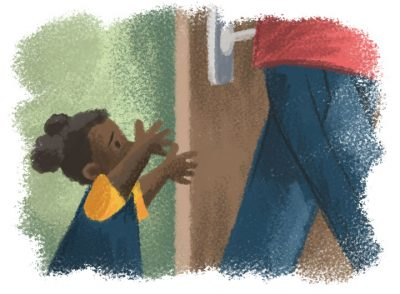 Separation anxiety - AF Early Years Tiled Illustrations