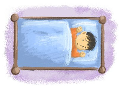 Sleeping - AF Early Years Tiled Illustrations