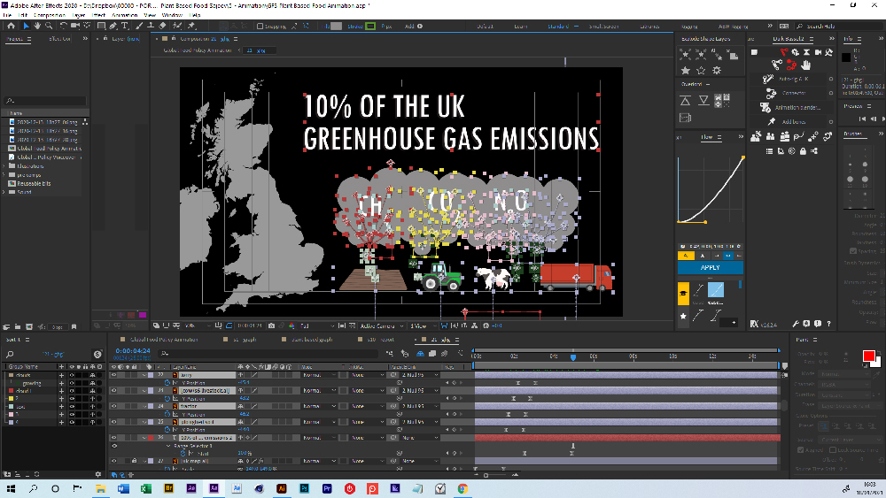 After Effects screenshot of animation.