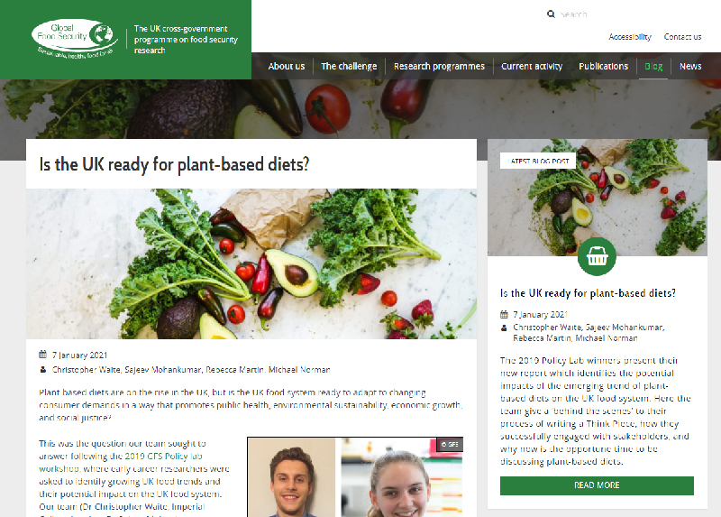 Read the Global Food Security Report Is the UK ready for plant-based diets